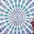 Diseño retro rectángulo patrón étnico chal toalla de yoga mat mesa tela de gasa tippet 4 colores