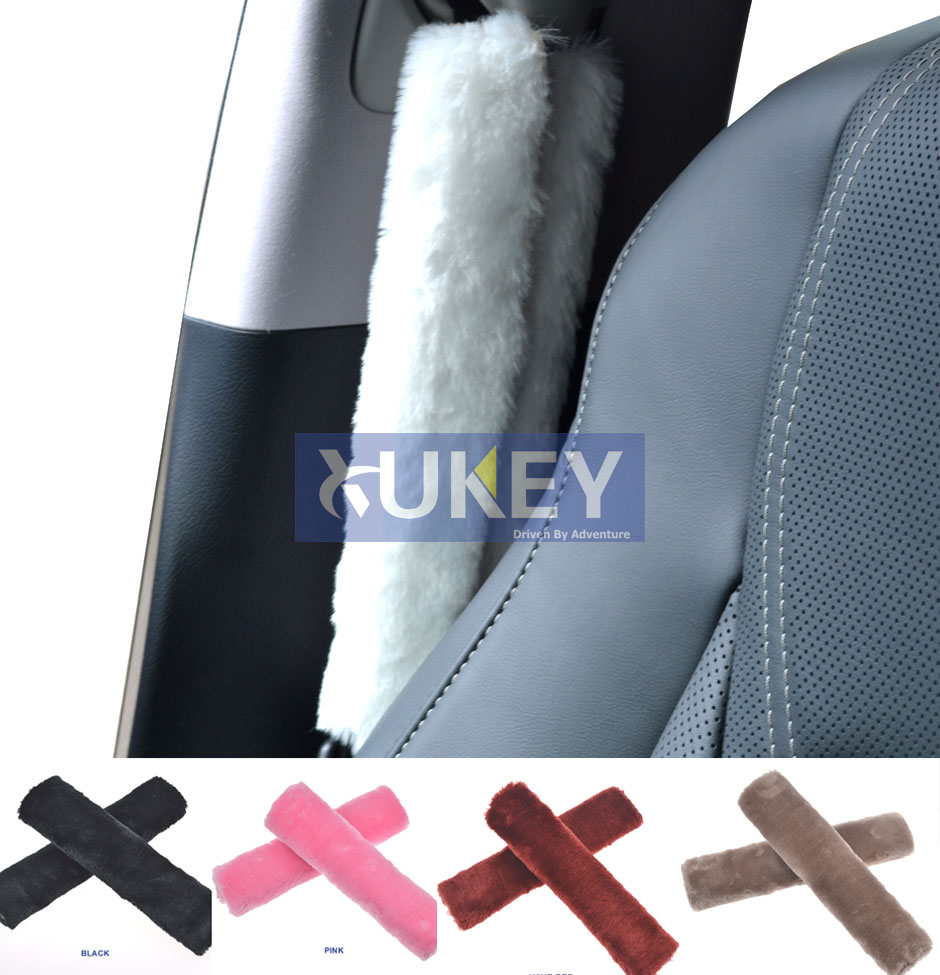 Pair of 2x Vauxhall seat belt shoulder pads covers buckle baby safety cushion