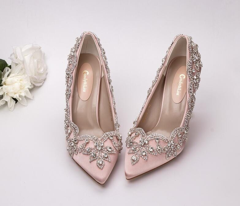 we could custom shoes to match wedding dress or party dress too. if you  have special demand fc864e619cdd