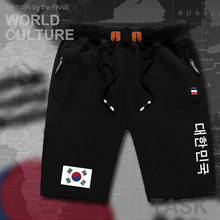 Южная Корея, мужские пляжные шорты, новинка, мужские пляжные шорты, с флагом, для тренировок, на молнии, с карманом, для бодибилдинга,, корейский