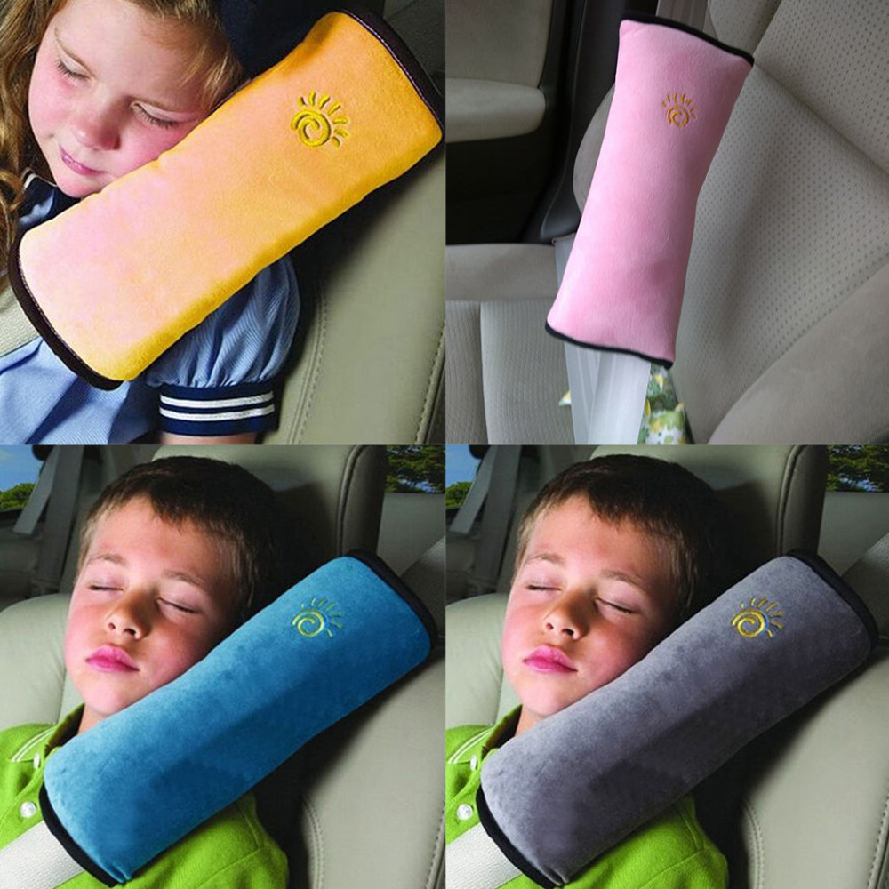 kid car pillows auto safety seat belt vehicle shoulder cushion pad children protection support pillow for