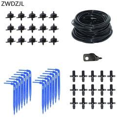 2L 1 way kroplownik do nawadniania nawadniania system mikro nawadniania kropelkowego dla szklarni z złącze śrubowe emiter strzałka z kroplomierzem w Zestawy do podlewania od Dom i ogród na