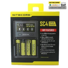 Nitecore SC4 D4 D2 Новый I4 I2 Digicharger inteligente LCD circuitos Global de seguros Li Ion 18650 14500 16340 26650 de cargador