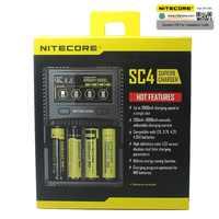 Nitecore SC4 D4 D2 NOVO I4 I2 Digicharger inteligente LCD circuitos Globais de seguros Li-ion 18650 14500 16340 26650 de cargador