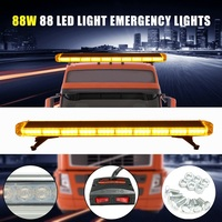 Autoleader 12V Universal 47 Inch 88 LED Light Flash Yellow Warning Light Auto 120x20cm Signal Lamp