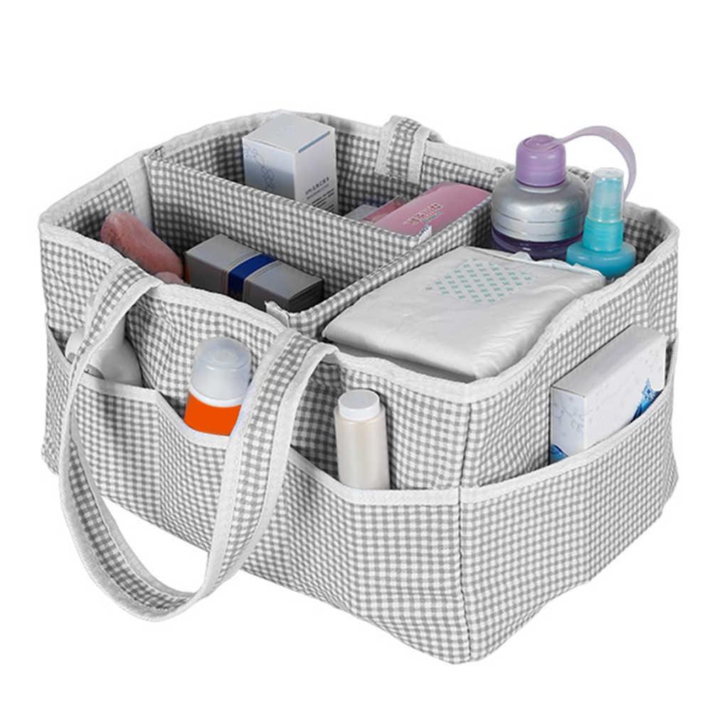 Recipiente de viagem Dobrável Caixa De Armazenamento De Fraldas Cuidados Com o Bebê Kiddy Tote Portátil Berçário Para Casa Útil