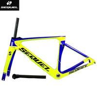 DC012 SEQUEL  carbon road bike frame Toray T1000 PF30/BB30/BSA frame+fork+seatpost+clamp+headset+heaset cover cadre velo DIY|carbon road bike frame|road bike frame|bike frame -