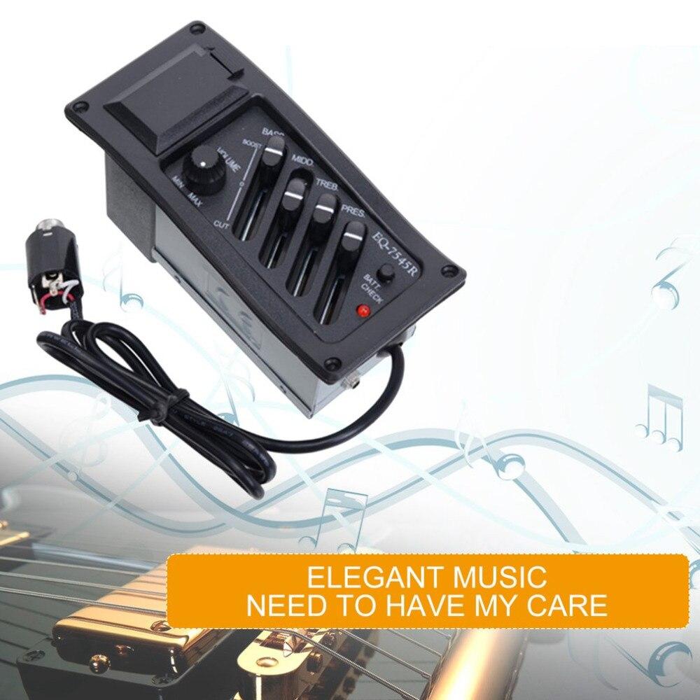 EQ-7545R Akustische Gitarre Pickup Gitarre Preamp Verstärker Pickup 6,5mm Jack Ausgang Elektrische Box Gitarre Zubehör neue