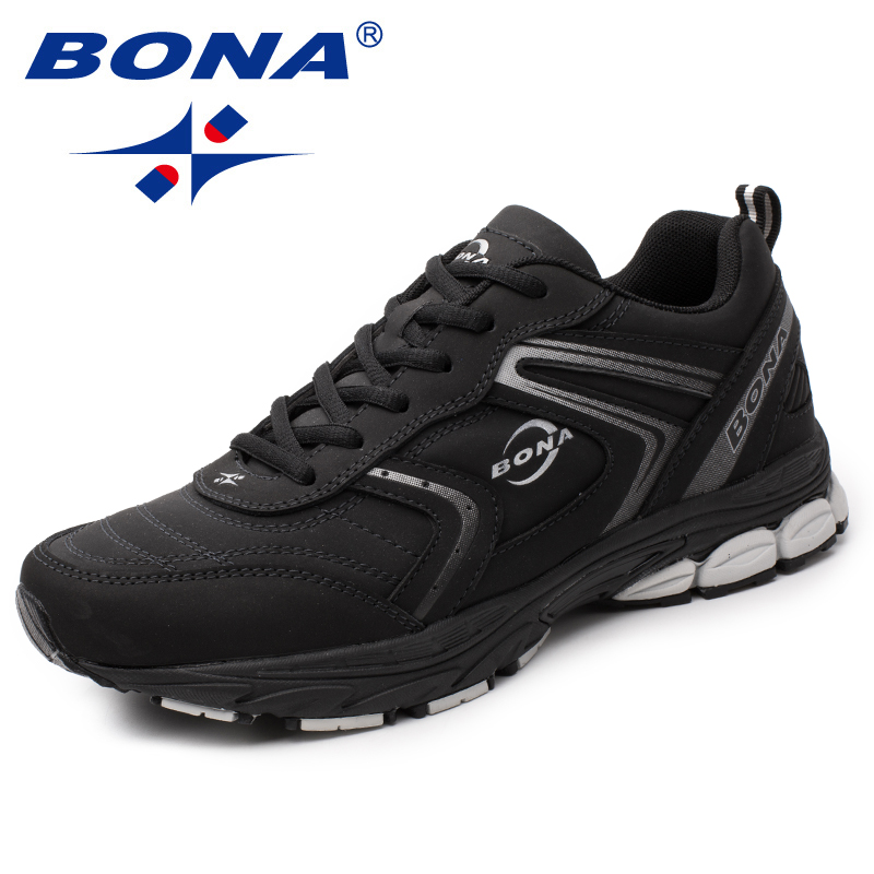 $34.51 BONA New Arrival Typical Style Men Running Shoes Lace Up Men Athletic Shoes Outdoor Jogging Sneakers Shoes Light Free Shipping
