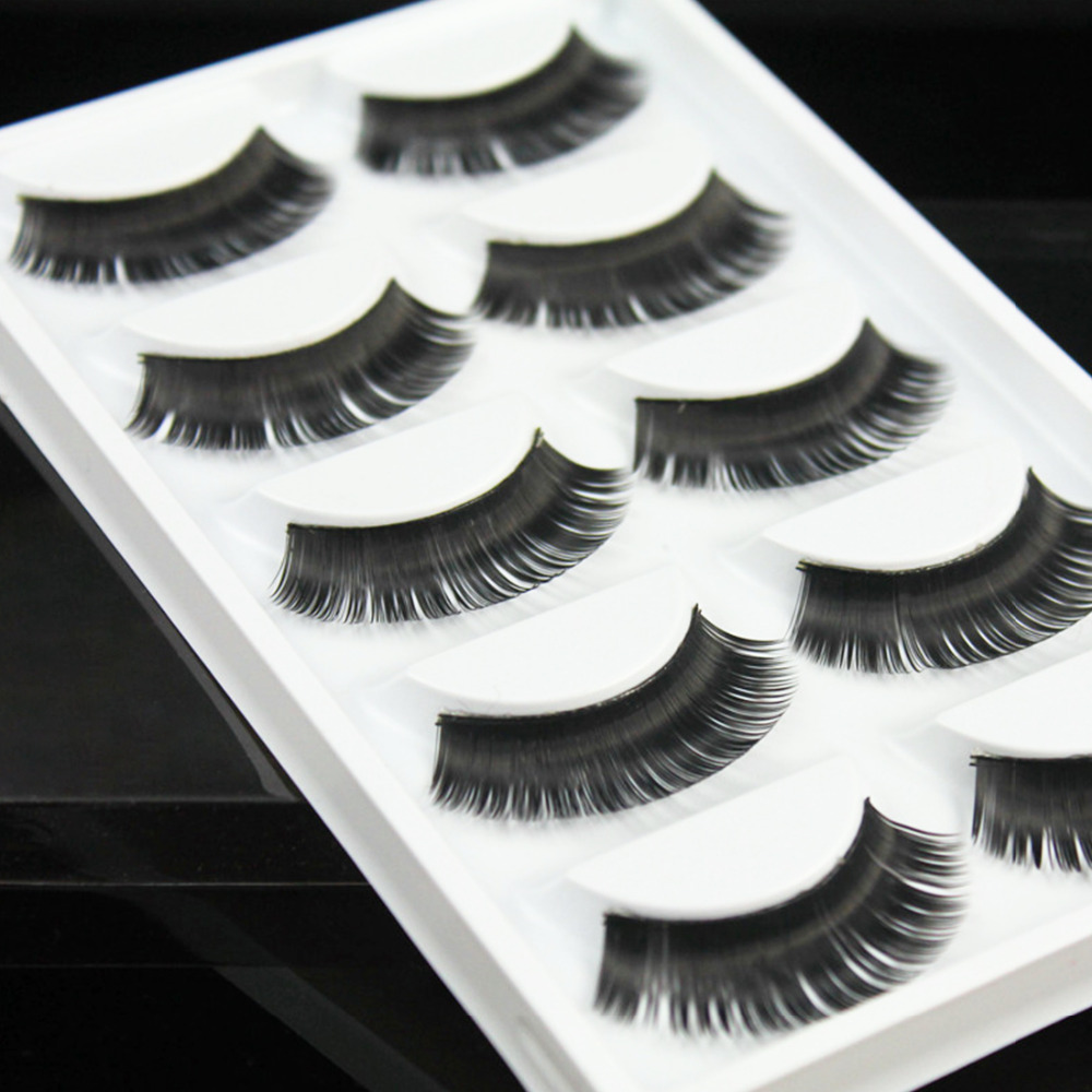 Hot False eyelashes Professional thick fake lashes nude makeup eyelashes extentions 5pairs per pack with model show