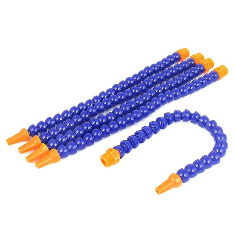 Round Nozzle Flexible Water Oil Coolant Pipe Hose 3/8BSP Thread 5pcs