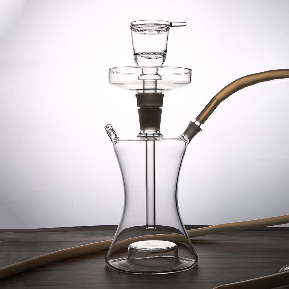 93977d315db42 LED الفن النرجيلة زجاج الشيشة الفاكهة النرجيلة ضخمة غائم الجدول تشيتشا  المياه واقية مصباح ليد التحكم