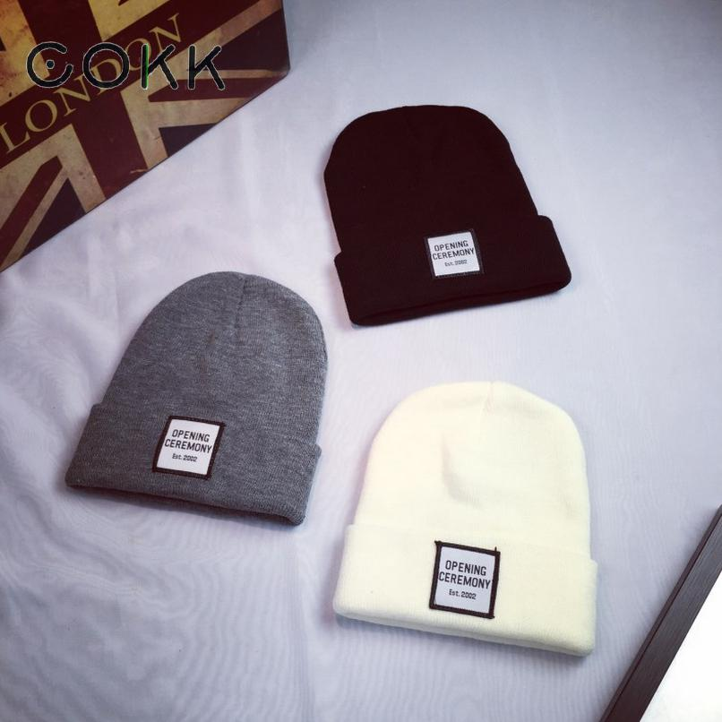 Fashion Hat Winter Hat For Man Woman Skullies Beanies Solid Knitted Hat Warm Cap Men Beanies Cap Elastic Free Shipping Beanie skullies