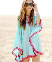 2018 Summer Women Sleeve Loose Casual Chiffon Print Beach Blouse shirt Cover Up Poncho Sexy Kimono calico print poncho blouse