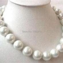 WUBIANLU дизайнерских ювелирных изделий большой 14 мм aaa Белое море Южная раковина жемчужное ожерелье 18 дюймов модные ювелирные изделия