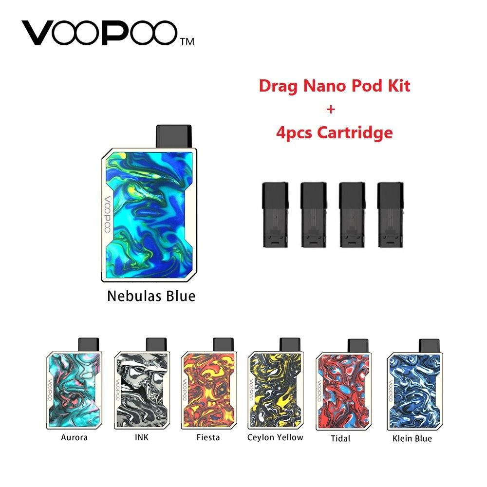 ¡Versión actualizada! VOOPOO arrastrar Nano Pod Kit W/batería de 750 mAh y 1,0 ml arrastrar Nano Pod cartucho de E-cig vape Kit del arrastre/Mini/Drag 2