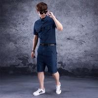 2019 new summer denim jumpsuits clothing men's casual denim jumpsuit male tooling tide denim pants