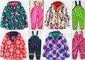 Ребенок зимние ветрозащитный непромокаемые высокое качество детская одежда набор ребенок утолщение открытый лыжный костюм куртка костюмы Девушка, Набор