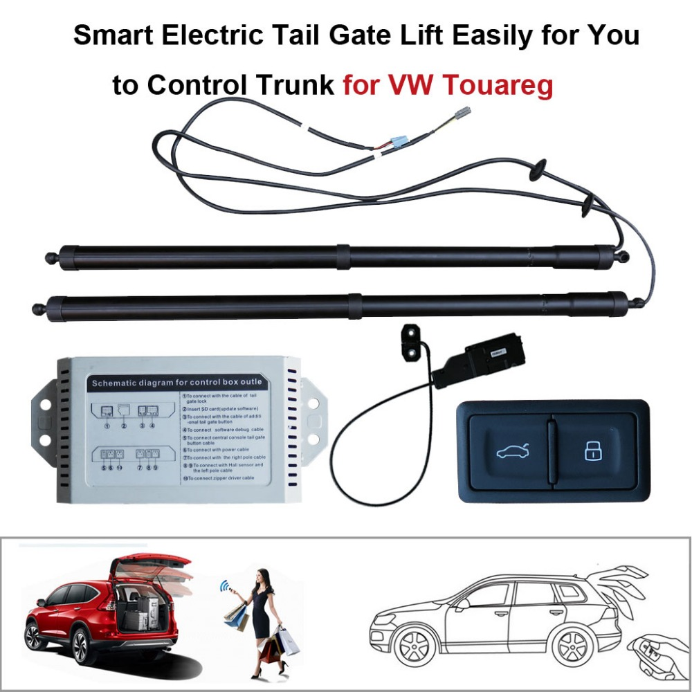 Smart Auto Électrique Queue Porte Ascenseur pour Volkswagen VW Touareg Télécommande Ensemble Hauteur Éviter Pincée