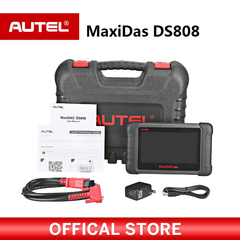Autel Maxidas DS808 OBD2 Automobile Outil De Diagnostic OBDII Scanner code reader pour TPMS Programmation clé de codage PK MS906 DS708