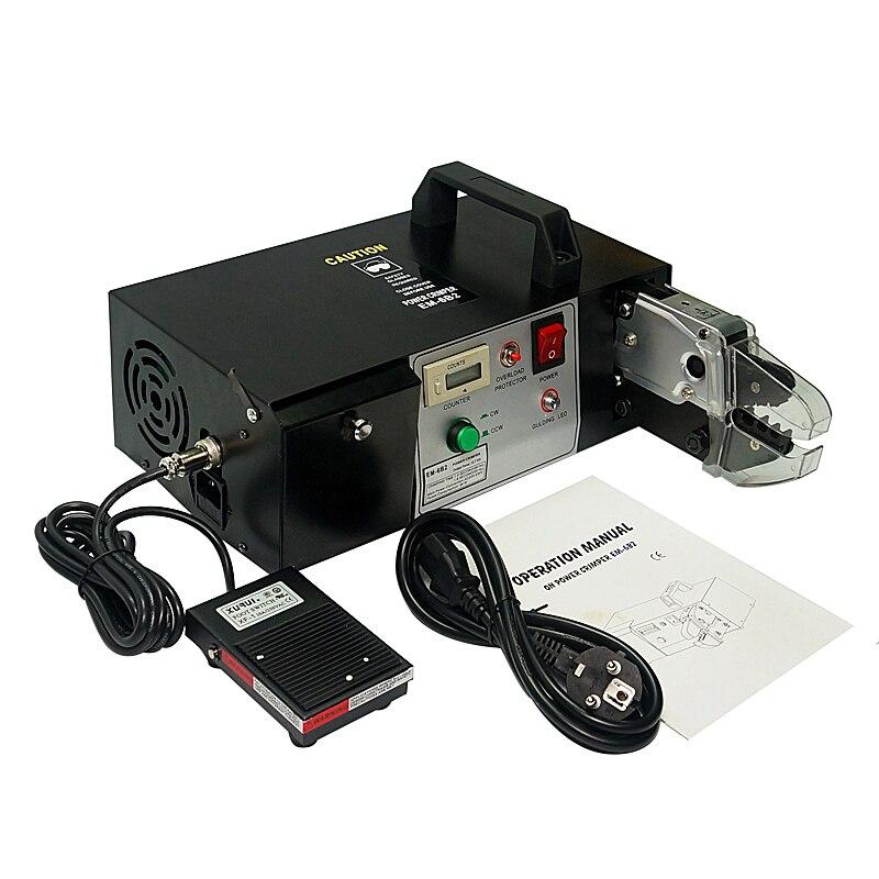 EM-6B2 Elétrica Máquina de Friso Do Terminal com Friso & função de Decapagem Incluem 7 pcs Friso Molde