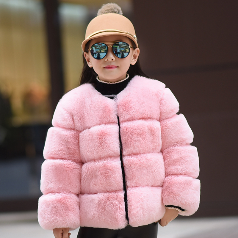 2018 Fashion Children Fur Coat Girls Boys Winter Jacket Toddlers Clothing Baby Faux Fur Coat Kids Outwear Windbreakers 2 10T