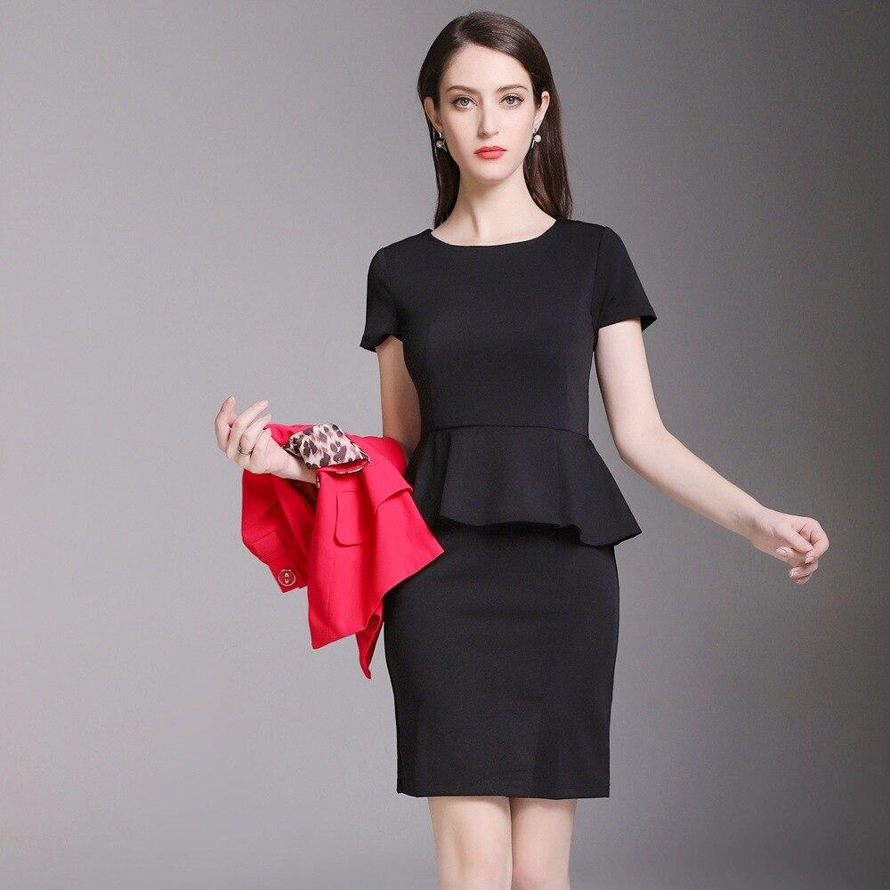 Fmasuth verano mujeres Oficina traje chaqueta roja con bowknot + manga  corta vestido negro 2 unidades uniforme de trabajo YR 66821 en Trajes de  vestir de La ... 3f749dc61a31