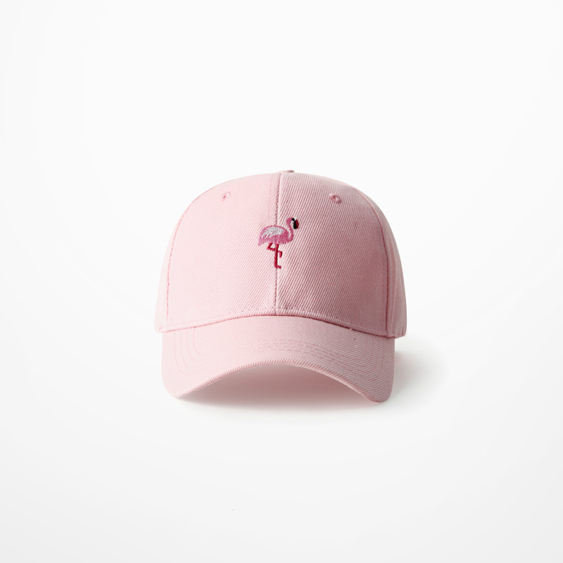Hats Baseball-Cap Flamingo Streetwear Anime Harajuku Pink Fashion Embroidery Women