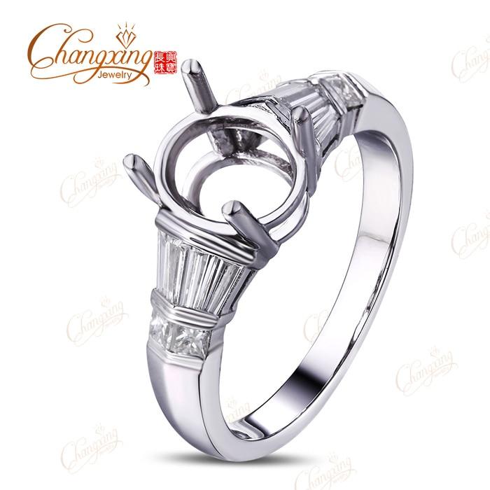 9x7 MM Oval Shape Semi Mount Side Natural Diamond 14k Rose Gold  Engagement Ring