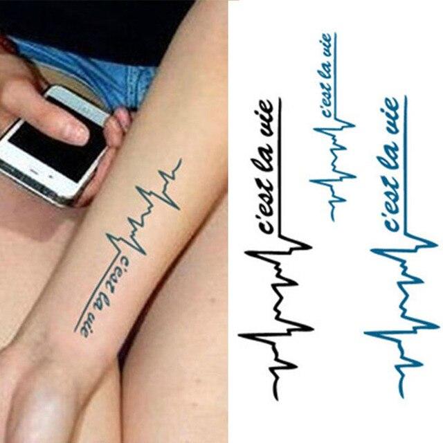 Wasserdicht Temporäre Tätowierung Sticker Frauen Sexy Arm Brust Fake