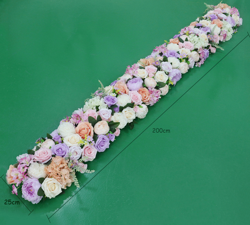 JAROWN Artificial 2M Rose Flower Row Wedding DIY Arched Door Decor Flores Silk Peony Road Cited Fake Flowers Home Party Decoration Maison (101)