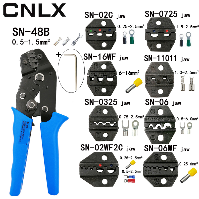 CNLX crimpen zange kiefer SN-48B SN-02C SN-06WF SN-11011 SN-02W2C SN-0325 SN-0725 SN-16WF hohe härte kiefer anzug werkzeuge sets