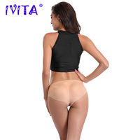 IVITA Top Quality Silicone Hip Pants Padded Buttock Enhancer Shaper Sexy Panty Fashion Fake Ass Push Up Crossdressing Underwear