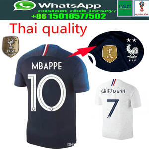 860b4df61 2018 new 2 stars Franceing World Cup Soccer Jerseys MBAPPE GRIEZMANN POGBA  Jersey 18 19 de foot football Shirts Best Quality