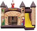 Kids' toy kingdom Nylon 0.55mm anime cartoon inflatable castle jump bed trampoline kids Indoor and outdoor toy 3m*4m/Piece
