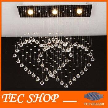 JH berbentuk Hati Langit-langit Lampu Lampu Restoran Modern Minimalis Kristal Jantung Ganda Kristal DIPIMPIN Cahaya Lampu Kamar Tidur Ruang Tamu