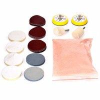 34pcs Deep Scratch Remove Glass Polishing Kit 8 OZ Cerium Oxide Sanding Disc Wool Polishing Pads