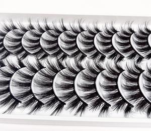 Image 2 - マルチスタイル 10 ペア 3Dソフトミンク毛つけまつげ手作りかすかなふわふわロングまつげナチュラルアイメイクアップツールフェイクまつげ