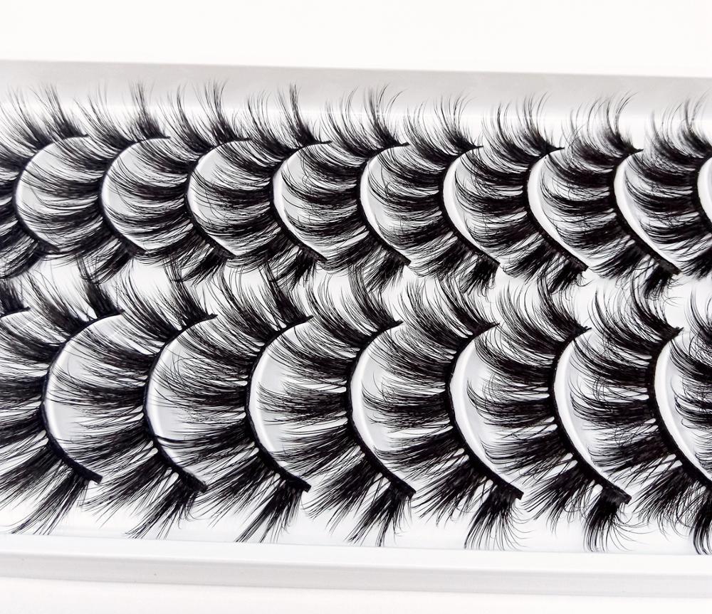 Image 2 - Multi style 10 Pairs 3D Soft Mink Hair False Eyelashes Handmade Wispy Fluffy Long Lashes Natural Eye Makeup Tools Faux EyeLashes-in False Eyelashes from Beauty & Health