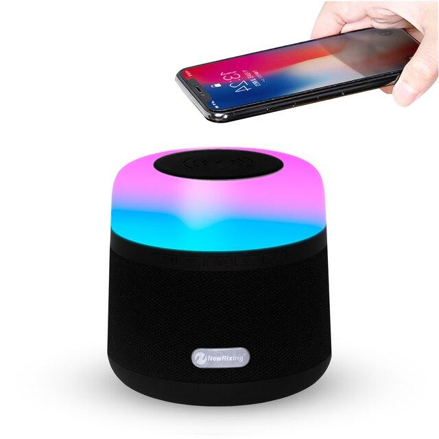 Altavoz Bluetooth con función de cargador inalámbrico Qi cargador inalámbrico para iPhone XS Samsung Xiaomi Huawei