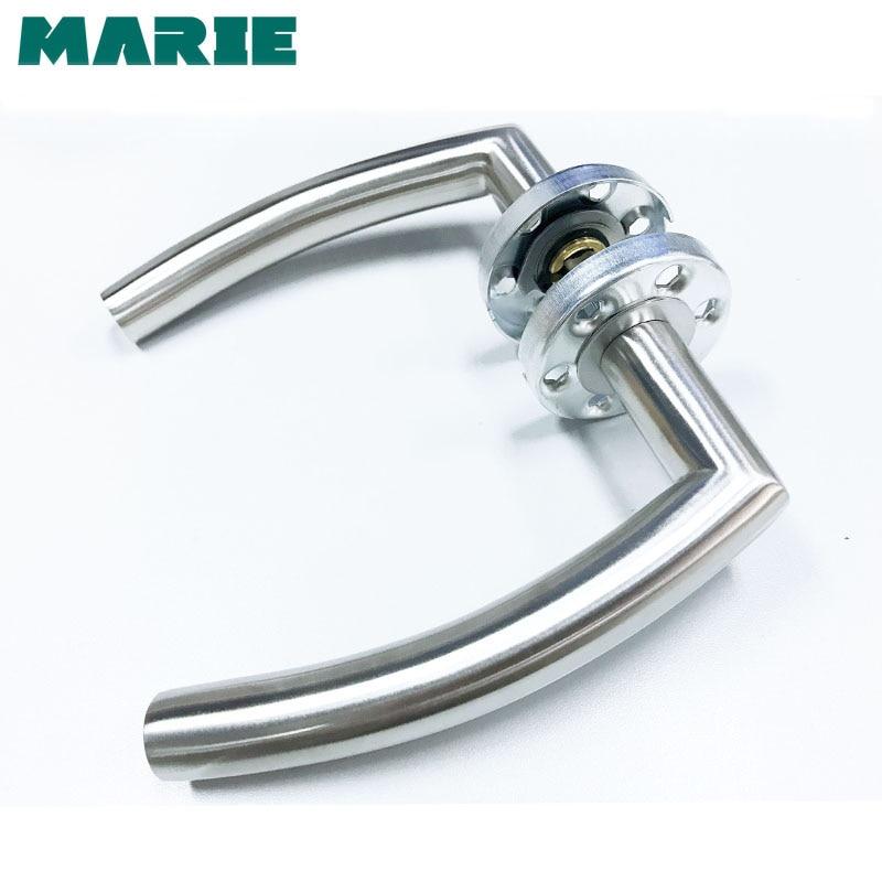 LH1007 Stainless Steel Half-Dummy Door Knob For Interior Door Lever Brushed Nickel Door Handle недорго, оригинальная цена