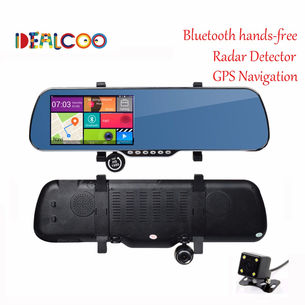 5 0 inch Touch Bluetooth Rearview Mirror Android Car GPS navigation 1080P car dvr Dual camera