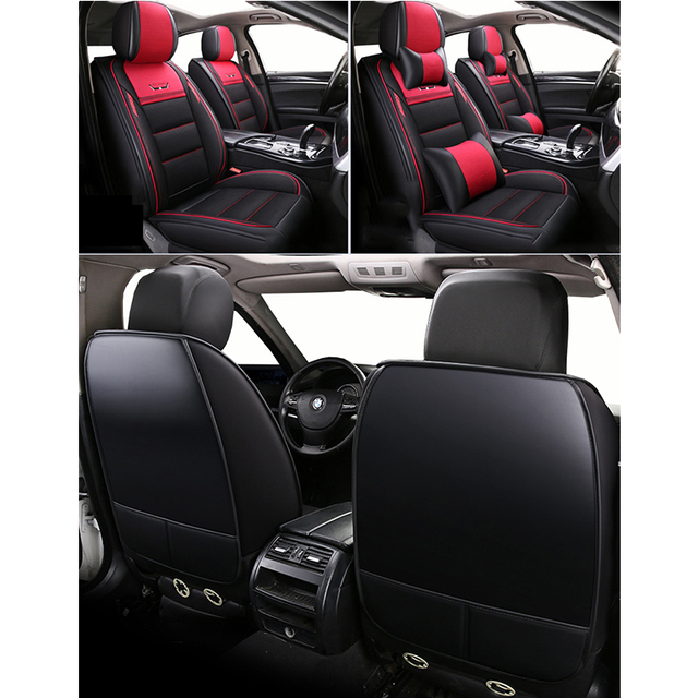 (Front+Rear)Leather&Flax auto seat covers for Toyotacamry 40 50 2007 2008 2009 2012 2018 fortuner 2017 highlander Hilux 2