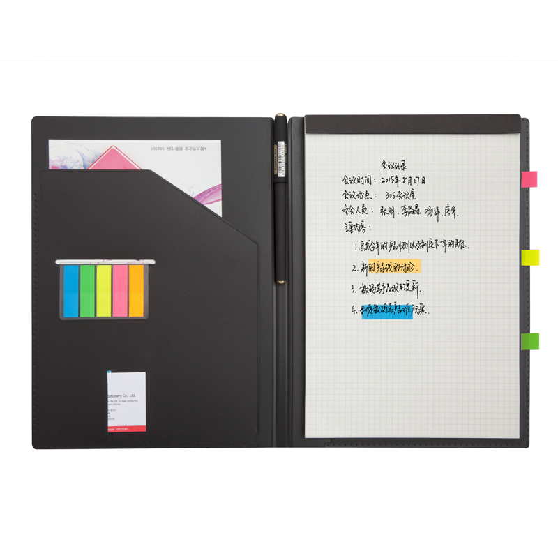 Multi Function Management Book Plan Notepad Agenda Business Meeting Notebook Planner Gel Pen Memo Pad B5 Office Supplies
