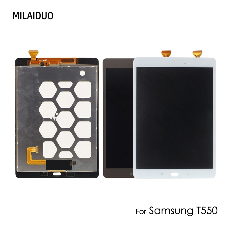LCD Display For Samsung Galaxy Tab A T550 T551 T555 9.7 Inch SM-T550 Touch Screen Digitizer Full Assembly White Black