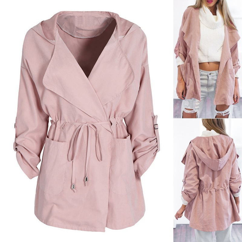 ZOGAA spring new womens jackets and coats Casual streetwear 5 colors Hooded windbreaker plus size S-3XL women