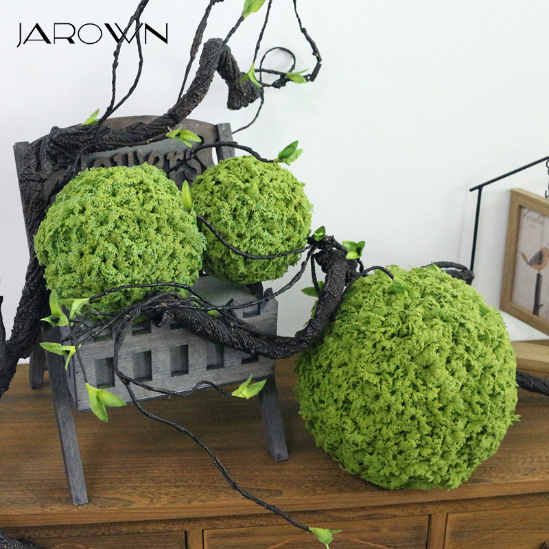 JAROWN Artificial Plant Milan Ball Simulation Green Moss Ball Grass Ball Party Decoration Set Wedding Scene Decoration