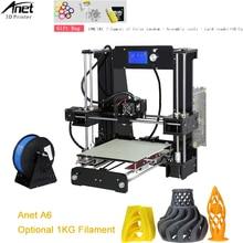 Upgraded Anet Normal A6 3D Printer High Precision impresora 3d DIY Printer Machine Reprap 3D Printer Kit With Free PLA Filament цена