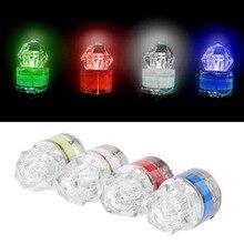 Galleggiante da pesca LED galleggiante a forma di diamante pesca in acque profonde lampada a LED che attira luci di pesce segno accessori per la pesca notturna