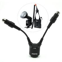 Godox DB 02 2 オールインワンケーブル Y 2 1 に電源用 PROPAC フラッシュバッテリーパック PB960 PB820 スピードライト AD360 II AD180